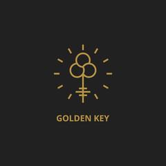 Outline key logo. Vector icon