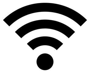 Black Icon Wi-Fi