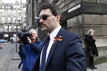 Pasquale Riggi walks away from  the High Court in Edinburgh
