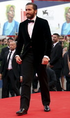 """Cast member Gyllenhaal attends the red carpet for the movie """"Everest"""" at the 72nd Venice Film Festival"""