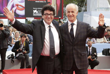 "Italian actor Servillo and director Cipri pose during the red carpet for the movie ""E' stato il figlio"" at the 69th Venice Film Festival"
