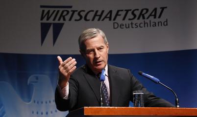 Deutsche Bank board member and designated CEO Fitschen delivers speech in Berlin