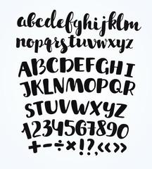 Doodle typographic symbols - hand drawn font