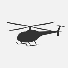 Vector illustration of helicopter in monochrome