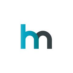 Initial Letter HN Rounded Lowercase Logo