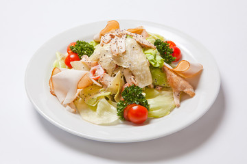 Caesar Salad with Chicken Fillet and Cheese