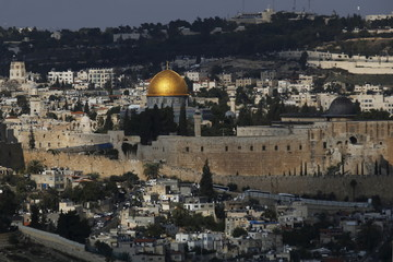 A general view shows Jerusalem's old city during a ceremony marking the holiday of Sigd in Jerusalem