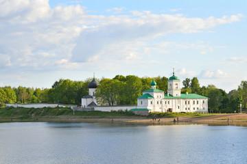 The Spaso-Preobrazhenskiy Mirozhsky monastery on the banks of the great river