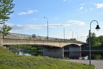 Bridge 50-letiya Oktyabrya over the Velikaya river