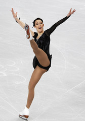 Johnson of Denmark performs during her women's short programme at the European Figure Skating Championships in Sheffield