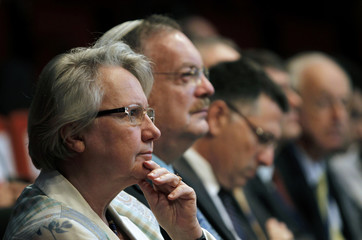 German Education Minister Schavan attends a conference in Jerusalem