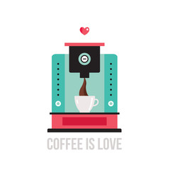 Cute colorful coffee maker