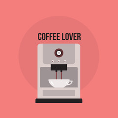 Coffee maker Cute banner with Kitchen appliance
