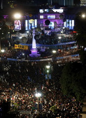 Argentina's President Fernandez de Kirchner speaks during commemorations of the 204th anniversary of the Revolucion de Mayo (May Revolution) in Buenos Aires