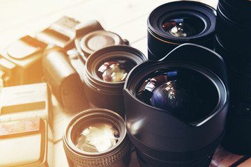 Professional camera lenses and accesories.