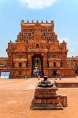 Fotomurales - Brihadeeswara Temple in Thanjavur, Tamil Nadu, India - 23.03.2017