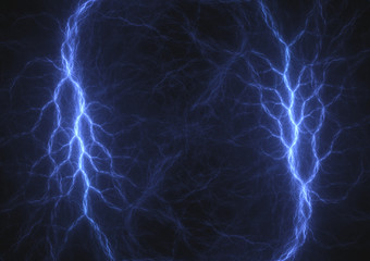 Double blue lightning, electrical bacground