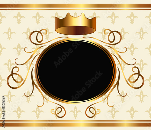 Royalty style event invitation template with golden crown and copy royalty style event invitation template with golden crown and copy space for text medieval heraldic stopboris Image collections
