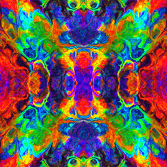 Ebru Oil. Hand drawn background hippie, Indian motifs. Perfect for printing on fabric or paper. Neon rainbow kaleidoscope. Tie dye. Suitable for printing on T-shirts, leggings, covers and scrapbook.