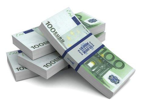 euro money bills 3d illustration