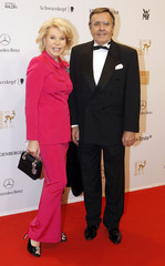 Ute-Henriette Ohoven and her husband Mario arrive for Bambi Awards 2012 in Duesseldorf
