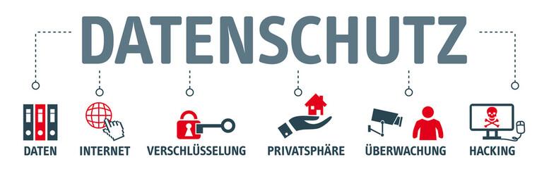 Banner Datenschutz - vektor Illustrationen
