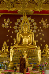 Big gold Buddha statue