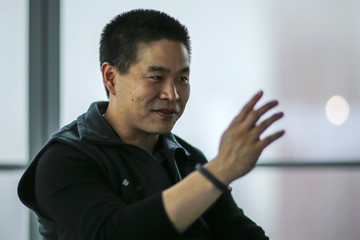 President & Chief Executive Officer of IEX, the Investors Exchange, Katsuyama speaks during an interview with REUTERS while he visits  the 44th floor of 4 World trade Center, where IEX is expected to move its operations in mid-April in New York