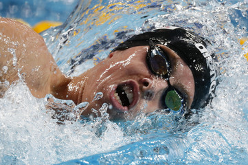 Paltrinieri of Italy swims to win gold in men's 1500m freestyle final  at Aquatics World Championships in Kazan