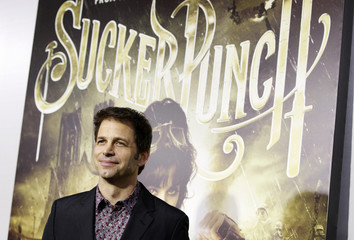 """Director Snyder poses at the premiere of """"Sucker Punch"""" at the Grauman's Chinese theatre in Hollywood"""