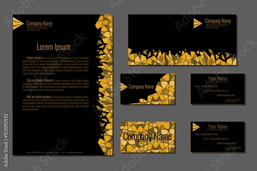 Professional corporate identity kit business cards envelope and professional corporate identity kit business cards envelope and letter head designs gold sample reheart Image collections