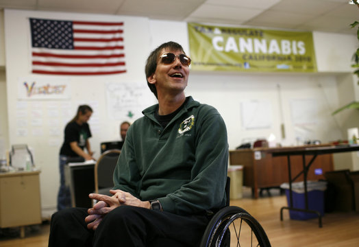 Richard Lee, founder of Oaksterdam University, is seen in the campaign headquarters for the Tax Cannabis campaign, in Oakland