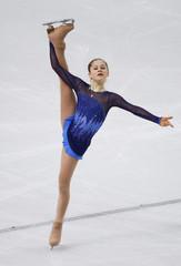Russia's Yulia Lipnitskaya competes during the Figure Skating Women's Short Program at the Sochi 2014 Winter Olympics