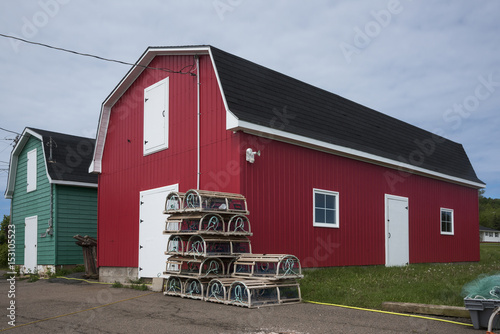 Sheds in the fishing industry, Prince Edward Island, Canada