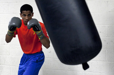 """Boxer Felix Verdejo particiaptes in a """"Manhattan Media Workout"""" at the Mendez Boxing Gym in New York"""