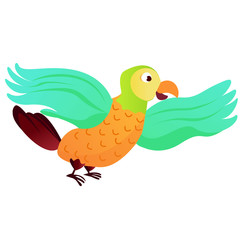Cartoon animal parrot - illustration