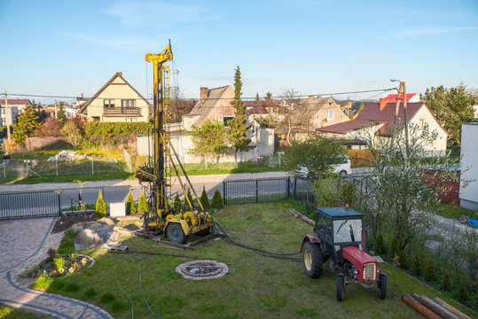 Digging wells