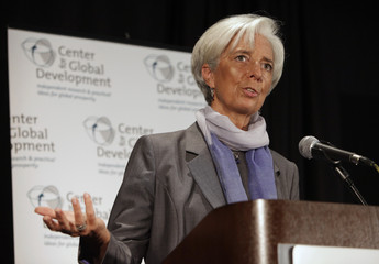 IMF Managing Director Christine Lagarde delivers remarks at CGD discussion