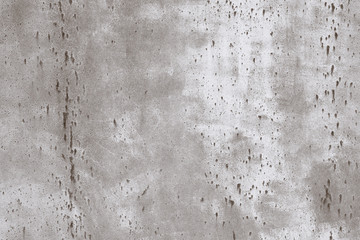 Poster Retro Light gray rusty spotted painted metal textured background.