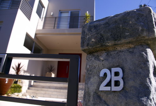 The new street number of a property for sale with Sotheby's International Realty, is displayed in the Sydney suburb of Vaucluse, Australia