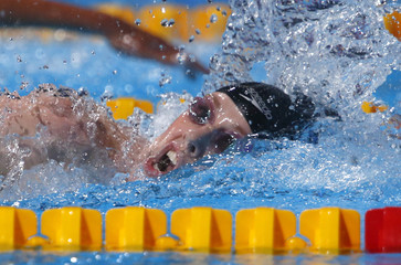 Franklin of the U.S. competes in the women's 200m freestyle final during the World Swimming Championships at the Sant Jordi arena in Barcelona