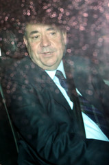 Scotland's First Minister Alex Salmond leaves Bute House after announcing his resignation in Edinburgh