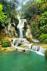 The Kuang Si Falls south of Luang Prabang, Laos