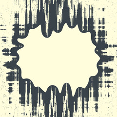 Abstract grunge vector background. Monochrome squared  composition of  irregular graphic elements.