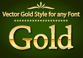 Gold Text Style Set 1