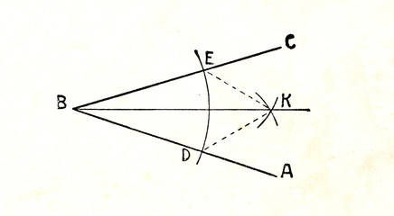 Construction of angle bisector