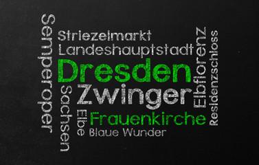 Dresden Schlagwortwolke Wordcloud