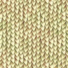 Seamless texture of metallic dragon scales. Reptile skin pattern