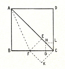 Theorem - diagonal of square and side of square are incommensurable