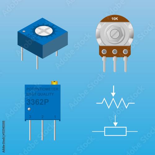potentiometer with symbol\